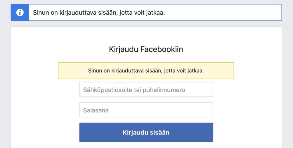Näyttökuva Facebook Business Manager tilin luomisesta 1
